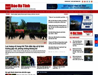baohatinh.vn screenshot