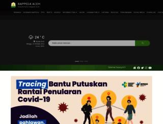 bappeda.acehprov.go.id screenshot