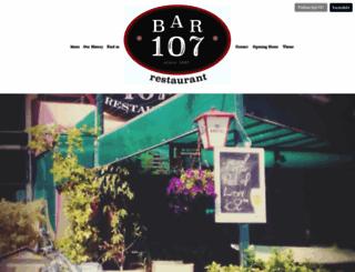 bar107.com screenshot