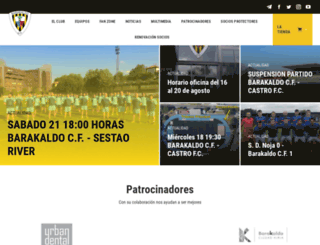 barakaldocf.com screenshot