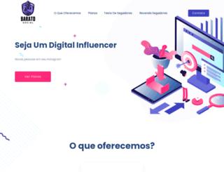 baratosocial.com.br screenshot