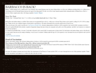 barbaccosf.com screenshot