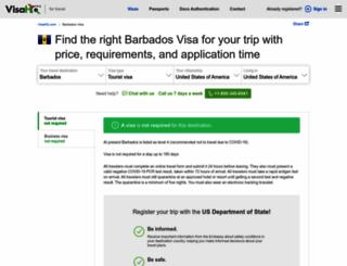barbados.visahq.com screenshot