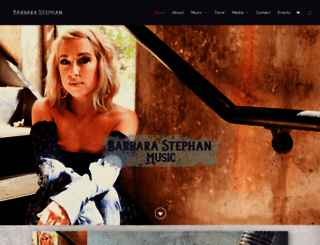barbarastephanmusic.com screenshot