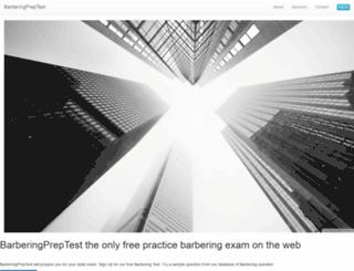 barberingpreptest.com screenshot