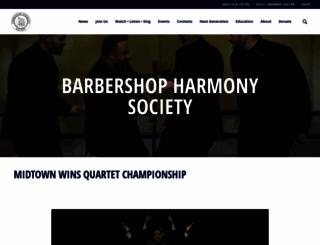 barbershop.org screenshot