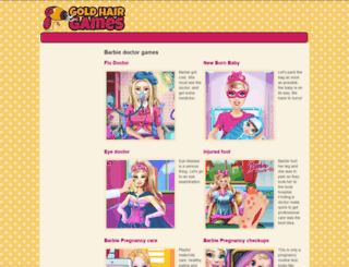 barbie-doctor.goldhairgames.com screenshot
