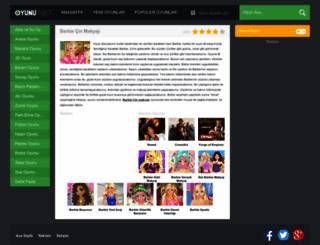 barbiecinmakyaji.oyunu.net screenshot