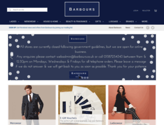 barbours.co.uk screenshot