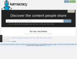barcampspain.karmacracy.com screenshot