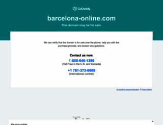 barcelona-online.com screenshot