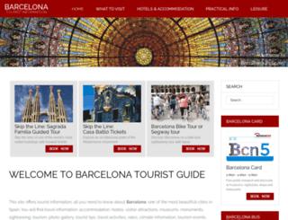 barcelona-travelguide.com screenshot