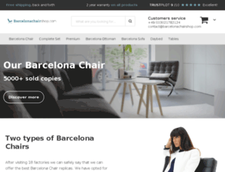 barcelonachairshop.com screenshot