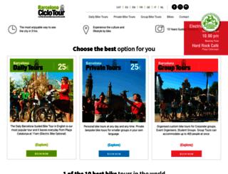 barcelonaciclotour.com screenshot