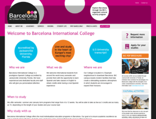 barcelonacollege.org screenshot