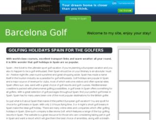 barcelonagolf.bravesites.com screenshot