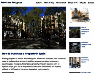 barcelonanavigator.com screenshot