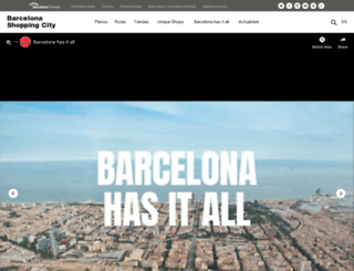 barcelonashoppingline.com screenshot
