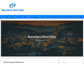 barcelonashortstay.net screenshot
