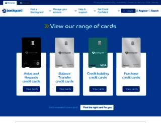 barclaycard.co.uk screenshot