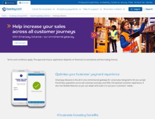 barclaycardsmartpay.com screenshot