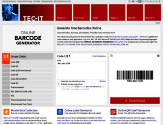 barcode.tec-it.com screenshot