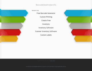 barcodelabelmaker.info screenshot