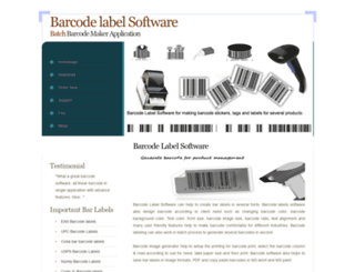 barcodelabelsoftware.biz screenshot