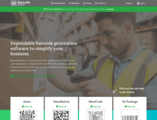 barcodephp.com screenshot