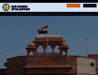 barcouncilofrajasthan.org screenshot