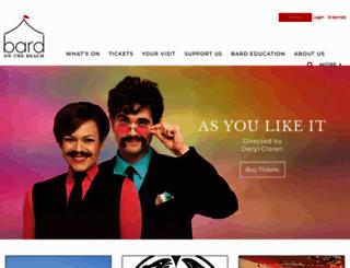 bardonthebeach.org screenshot