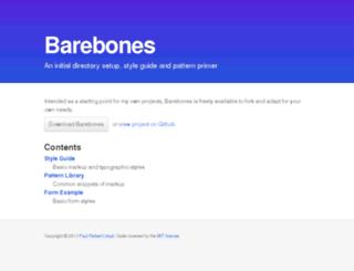 barebones.paulrobertlloyd.com screenshot