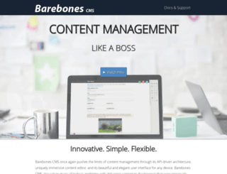 barebonescms.com screenshot