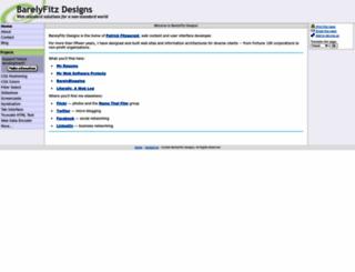 barelyfitz.com screenshot