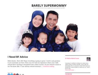 barelysupermommy.com screenshot