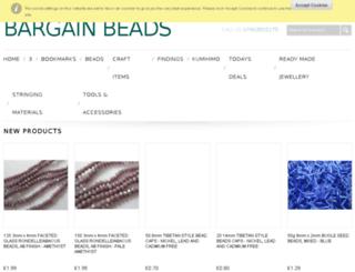 bargainbeads.co.uk screenshot