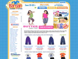 bargainchildrensclothes.com screenshot