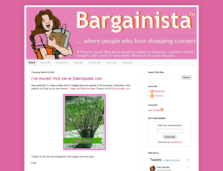 bargainista.blogspot.com screenshot