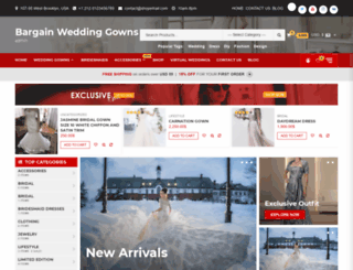 bargainweddinggowns.com screenshot