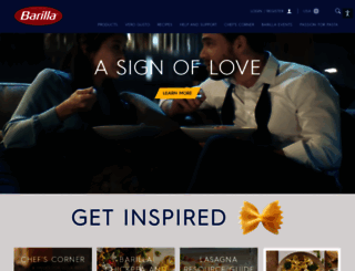 barilla.com screenshot