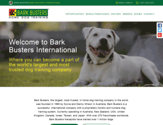 barkbustersinternational.com screenshot