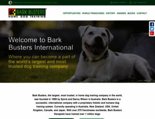 barkbustersinternational.com screenshot