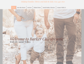 barkerchiropractic.com screenshot