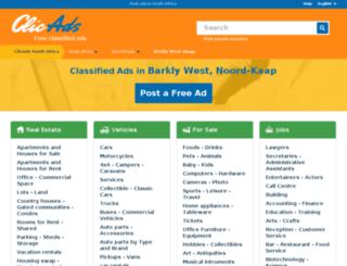 barklywest.clicads.co.za screenshot