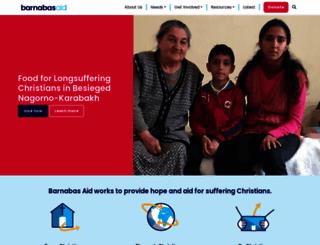 barnabasfund.org screenshot