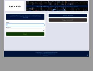 barnard.sona-systems.com screenshot