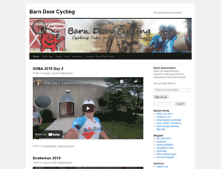 barndoorcycling.wordpress.com screenshot