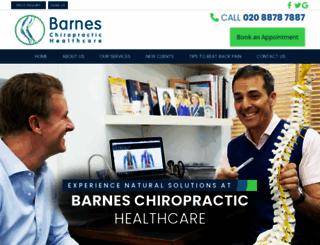 barnes-chiropractic.co.uk screenshot