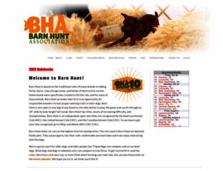 barnhunt.com screenshot