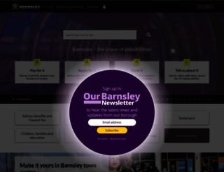 barnsley.gov.uk screenshot